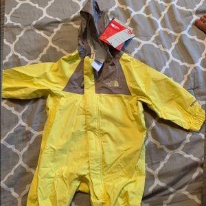 Brand new Northface Infant rain suit